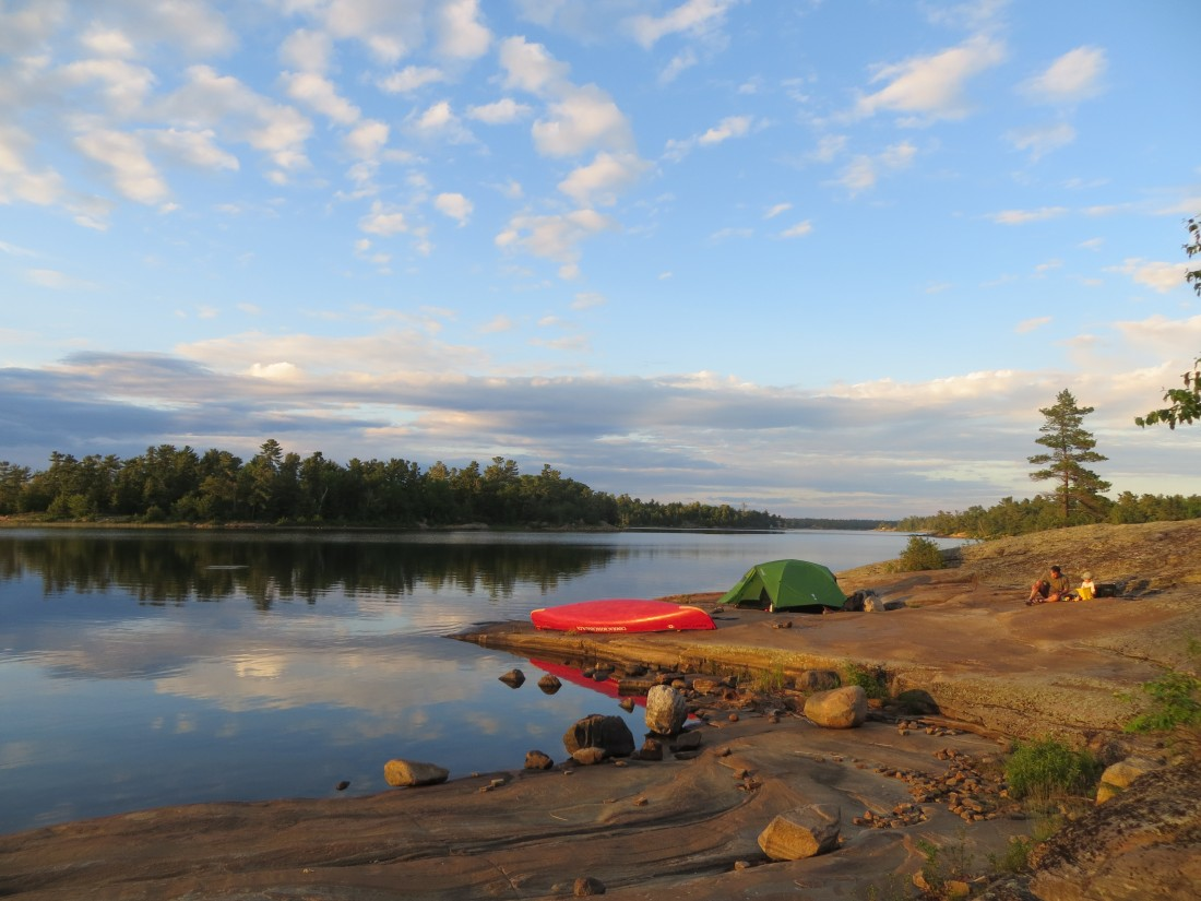 One of our favourite campsites on Georgian Bay.