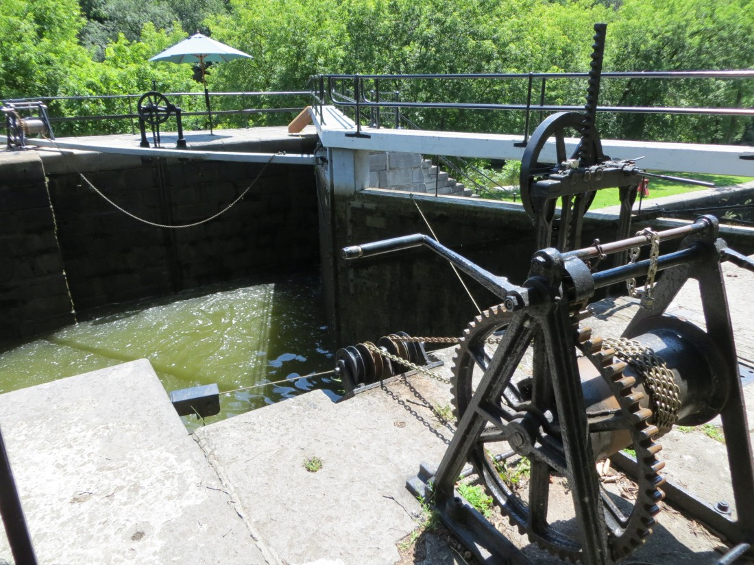 All of the locks are operated by hand.